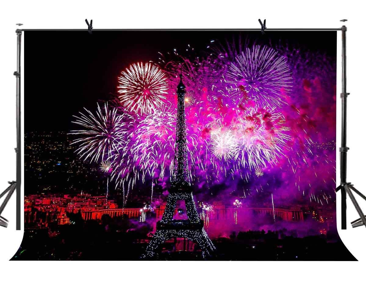 Audacious 150x220cm Romantic Fireworks Backdrop French Style Romantic Fireworks Photography Background For Camera Photo Props
