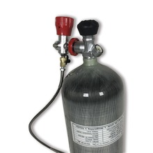 9L 4500 PSI Carbon Fiber CYLINDER for paintball game or air gun hunting+BOOT+FILLING STATION+RED VALVE 6 8l carbon fiber scba paintball tank bottle cylinder 300 bar 4500 psi for breathing or pcp air gun filling black boot
