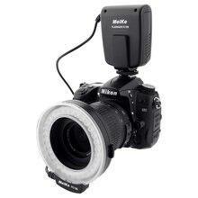 Meike FC 100 FC100 ידנית LED מאקרו טבעת פלאש אור עם 7 מתאם טבעת עבור Canon ניקון אולימפוס Pentax הדיגיטלי DSLR מצלמה