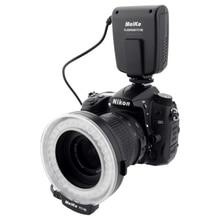 Meike FC 100 FC100 دليل LED حلقة ماكرو ضوء فلاش مع 7 محول حلقة لكانون نيكون أوليمبوس بنتاكس الرقمية DSLR كاميرا