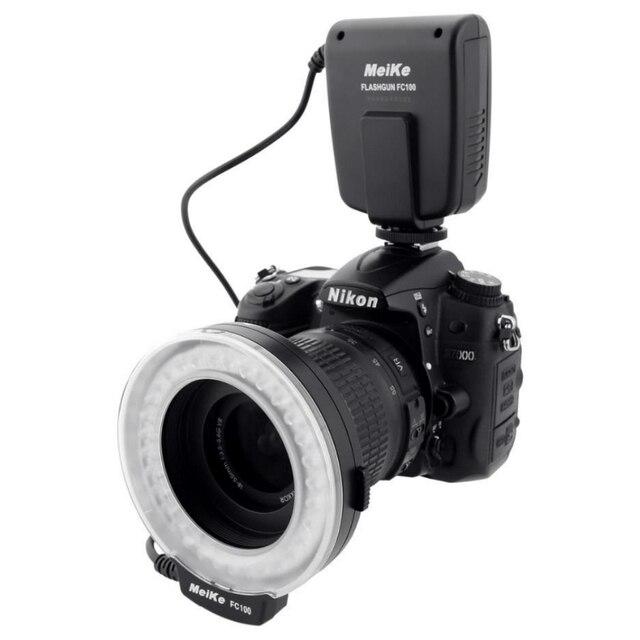 Meike FC-100 FC100 Tay LED Macro Ring Flash Ánh Sáng với 7 Adapter Ring cho Canon Nikon Olympus Pentax Kỹ Thuật Số DSLR máy ảnh