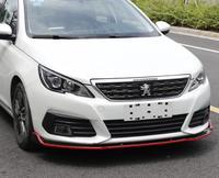 ABS Carbon Fiber Front Lip Splitters Bumper Aprons Cup Flaps Spoiler For Peugeot 308 2016 2017/2018 2019 BY EMS