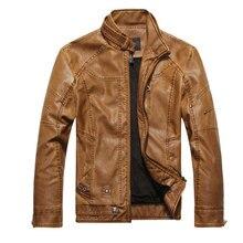 Men Motorcycle Leather jackets 2017 2017 new Fashion Brand Men's Autumn Winter Fleece Leather jacket Jaqueta De Couro Masculina
