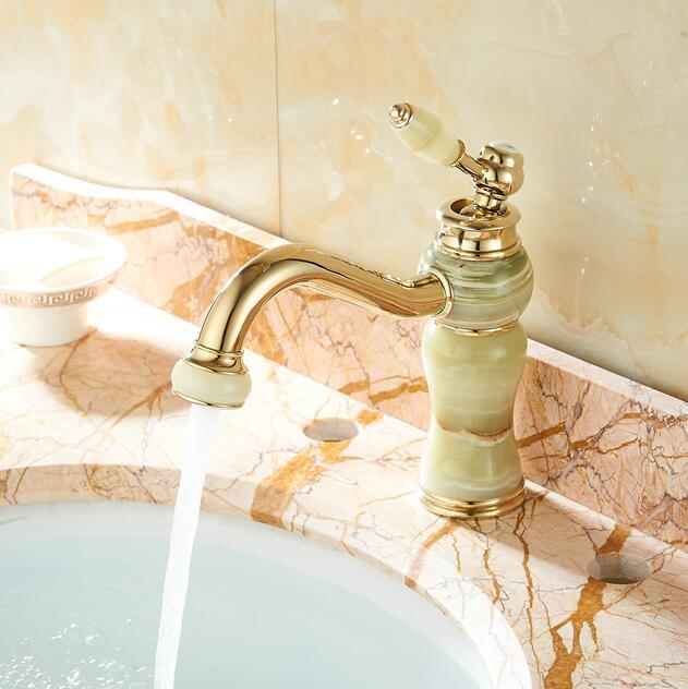 Bathroom Tap faucet copper gold European American basin bathroom ...