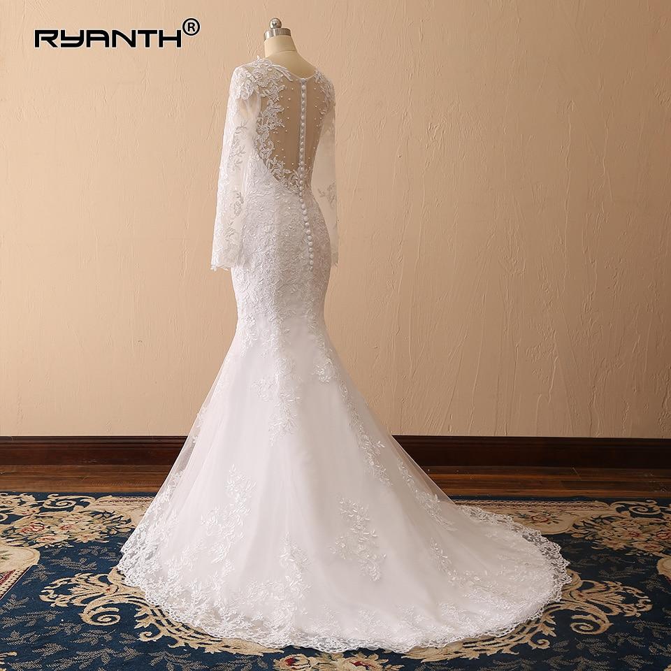 Vestido de novia Sexy Long Sleeves Lace Mermaid Wedding Dress 2019 New Arrival Vestidos de novia