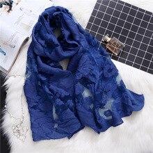 Дизайнерский брендовый женский шарф, модные кружевные летние шали и палантины, женские шелковые шарфы, пляжные палантины, солнцезащитный шарф