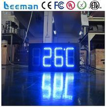 Leeman utdoor привело часов дата время температура знак/светодиодный дисплей цена на газ/водонепроницаемый led цена на газ
