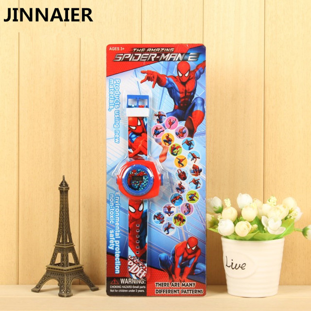 Hot Sales 20 Pattern Projection Child's Watches for Kids Clock Watch 3D Cartoon