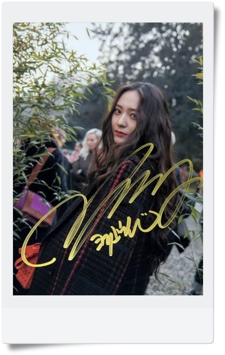 signed FX Krystal autographed  original photo  6 inches freeshipping 062017 snsd tiffany autographed signed original photo 4 6 inches collection new korean freeshipping 012017 01