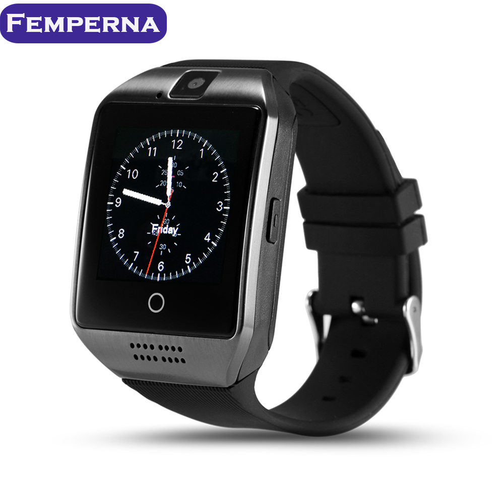Femperna Q18 Bluetooth Smart <font><b>Watch</b></font> <font><b>Support</b></font> <font><b>Sim</b></font> TF Card Touch Screen 0.3M Camera <font><b>Sports</b></font> <font><b>Pedometer</b></font> Fitness Tracker Smartwatch