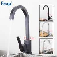 FRAP kitchen faucet Space Aluminum Hot and Cold Water mixer Tap 360 Degree Rotation Deck Mounted Crane YF40010/11/F4052/52 5