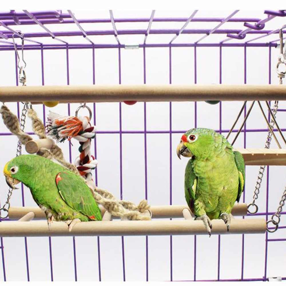 Bird Toy Wooden Ladders Swings