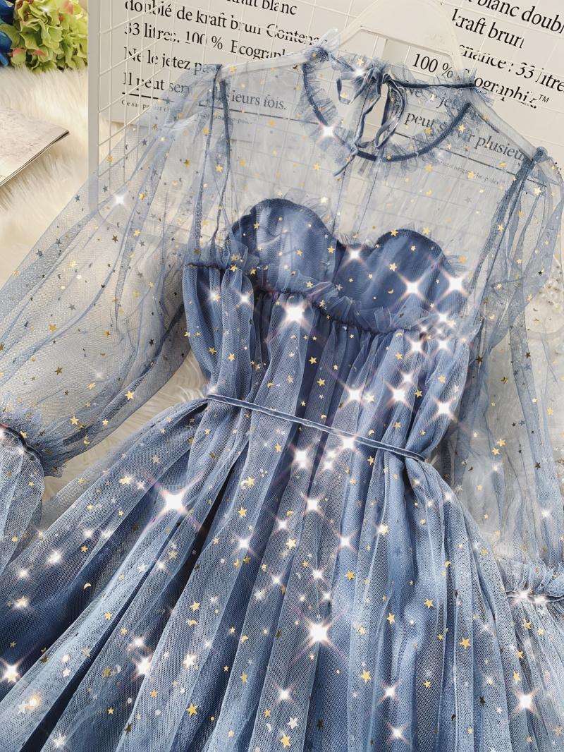 Gauze Two Piece Midi Dress 13