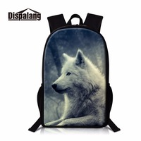 Dispalang wolf backpacks for men high class student bookbag personality double shoulder bag for teenager casual boys knapsack