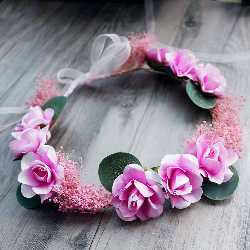 HIYONG 2019 Fashionable Design Floral Hair Accessories Wedding Hair Flower Crown Headband Girls Cute Lovely Charming Hair Band in Hair Jewelry from Jewelry Accessories