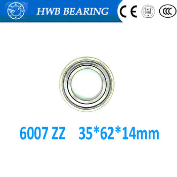 Free shippping 6007ZZ 35*62*14mm 6007-2z deep groove ball  bearing  radial ball bearing