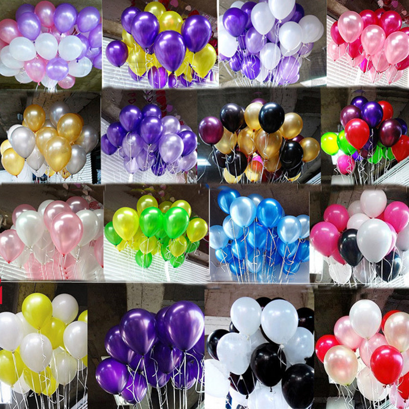 12 pcs 10 Inch 1.8g Birthday Wedding Supply Latex Balloons Colorful Party Latex Air Baloon/Ballon Kids Inflatable Toy