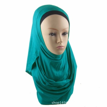 High Quality Modal Cotton Muslim Hijab Shawl Double Loop Instant Jersey Hijabs Islam Modest Women Plain Colour Ready Wear Turban