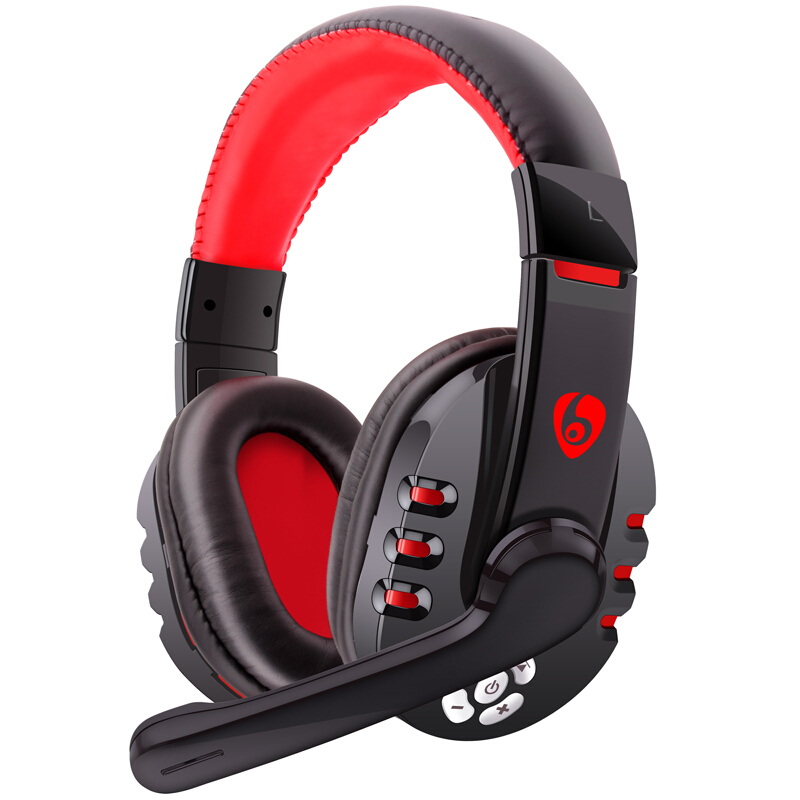NVAHVA Bass Bluetooth Headset, Wireless Headphone, Over-Ear Bluetooth Auriculares Earphone With Outter MIC For Phone PC TV Games