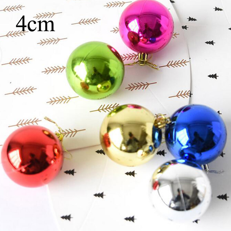 Ball New Christmas Set Decor Xmas 6pcs Party Hanging Ornament Colours Tree Home