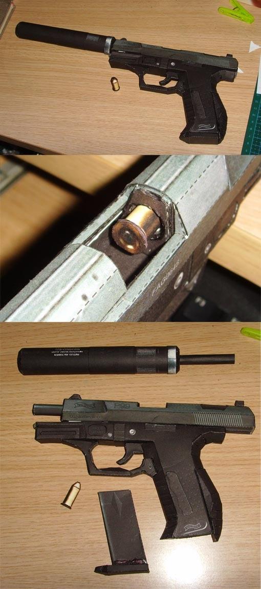 1//1 Scale arme revolver VASH pistolet papier 3D Modèle Puzzle Kit Cosplay À faire soi-même Toys