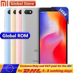 Original Xiaomi Redmi 6A 6 A 2GB 16GB Cell phone A22 Mobile Phone 13.0 MP + 5.0MP 3000mAh 5.45inch 1440*720