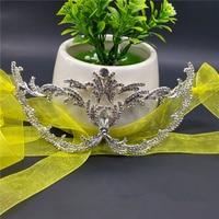 Medio Cara filigrana de metal veneciano hermoso de lujo de la mascarada máscara del carnaval máscara de ojo del partido macka con Diamantes con piedras falsas