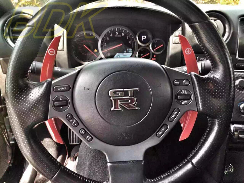 GTR35 Lengthened Competition shift paddle GTR glossy green ...