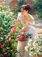5D DIY Diamond Painting flowers rose Icon Cross Stitch Full  Embroidery woman Home Decoration Mosaic  Gift yogotop diy diamond painting cross stitch kit full diamond embroidery 5d mosaic home decor red rose flowers 5pcs ml445