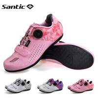 Santic Cycling Shoes Men Women Road Bike Shoes Unlocked Breathable Sneaker Rubber Outsole Bicycle Sport Shoes Sapatilha Ciclismo