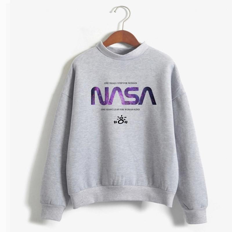 Women Hoodies I'ma Be In Space Seven Rinngs Girl Power Feminist Hoody Hot Sale Ariana Grande Space Sweatshirt