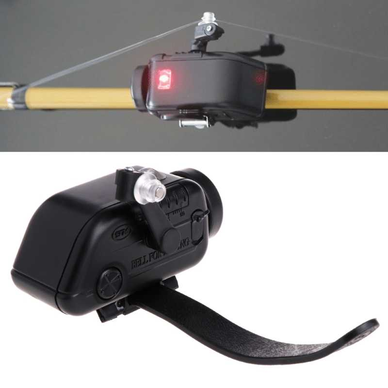 OOTDTY High Sensitive Fish Bite Alarm Adjustable Volume Fishing Rod Signal Device Bait Alertor
