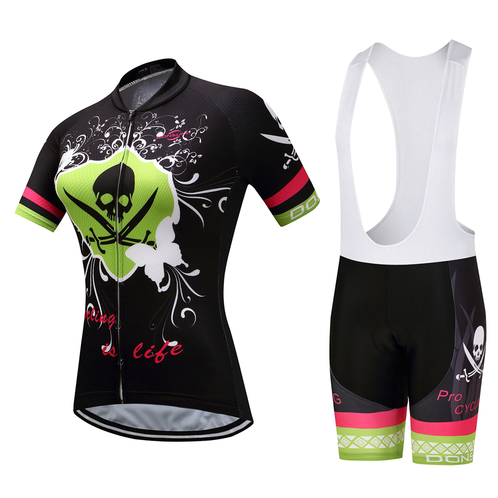 New Cycling jersey set 2018 women mtb Cycling jersey Shorts bicycling shirts Bicycle Sportswear bike Ciclismo Cycle clothing
