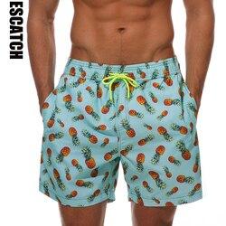 Escatch secagem rápida verão siwmwear dos homens praia board shorts briefs para homens calções de banho calções de praia wear