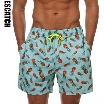 Escatch szybkie suche letnie męskie Siwmwear szorty plażowe figi dla mężczyzn kąpielówki kąpielówki kostiumy kąpielowe tanie i dobre opinie CN (pochodzenie) POLIESTER Drukuj Szybkoschnące ES03P Pasuje na mniejsze stopy niezwykle Proszę sprawdzić informacje o rozmiarach ze sklepu