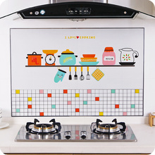 Calcomanías autoadhesivas de cocina de alta temperatura Anti-aceite, calcomanías de papel de aluminio para el hogar, calcomanía decorativa para armario de cocina a prueba de agua