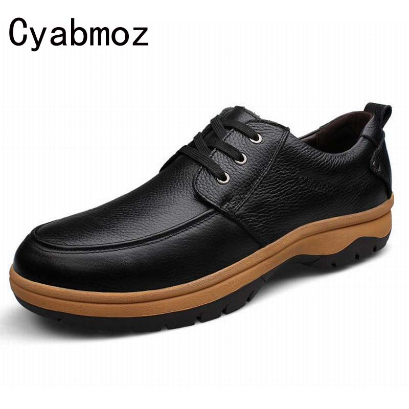 Casual-Shoes Business Genuine-Leather Fashion Man 48 49 46 47 45 Oxfords 50-51 52 53
