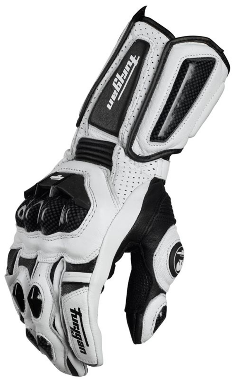 Vendite calde Freddo modelli In Fibra di Carbonio Furygan AFS10 moto guanti lunga corsa guanti guanti di cuoio Genuini Guanti de Moto