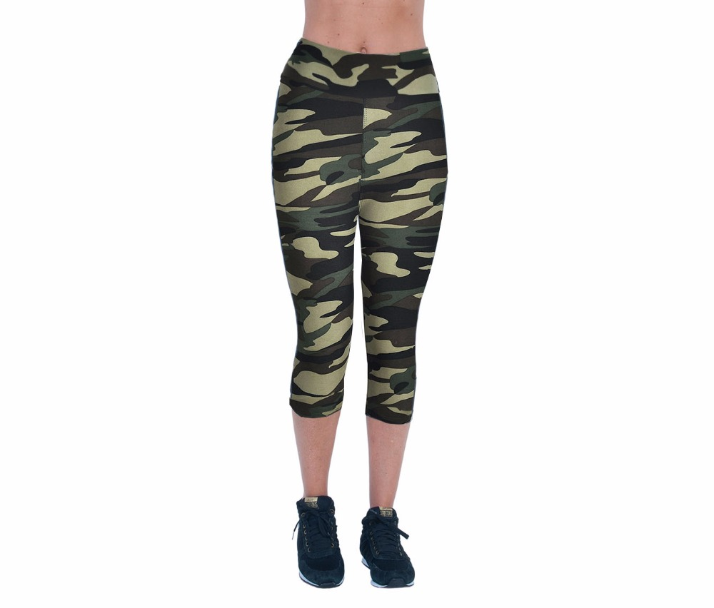 2017 New Arrival High Waisted Camouflage Leggings Womens Clothing Pants Workout Casual Wear