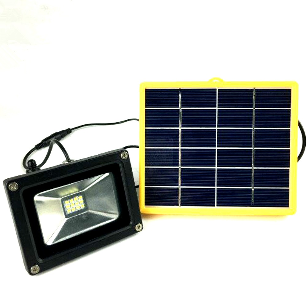 Solar Outdoor Lights No Batteries: Waterproof 10W Outdoor Solar Power LED Flood Light With