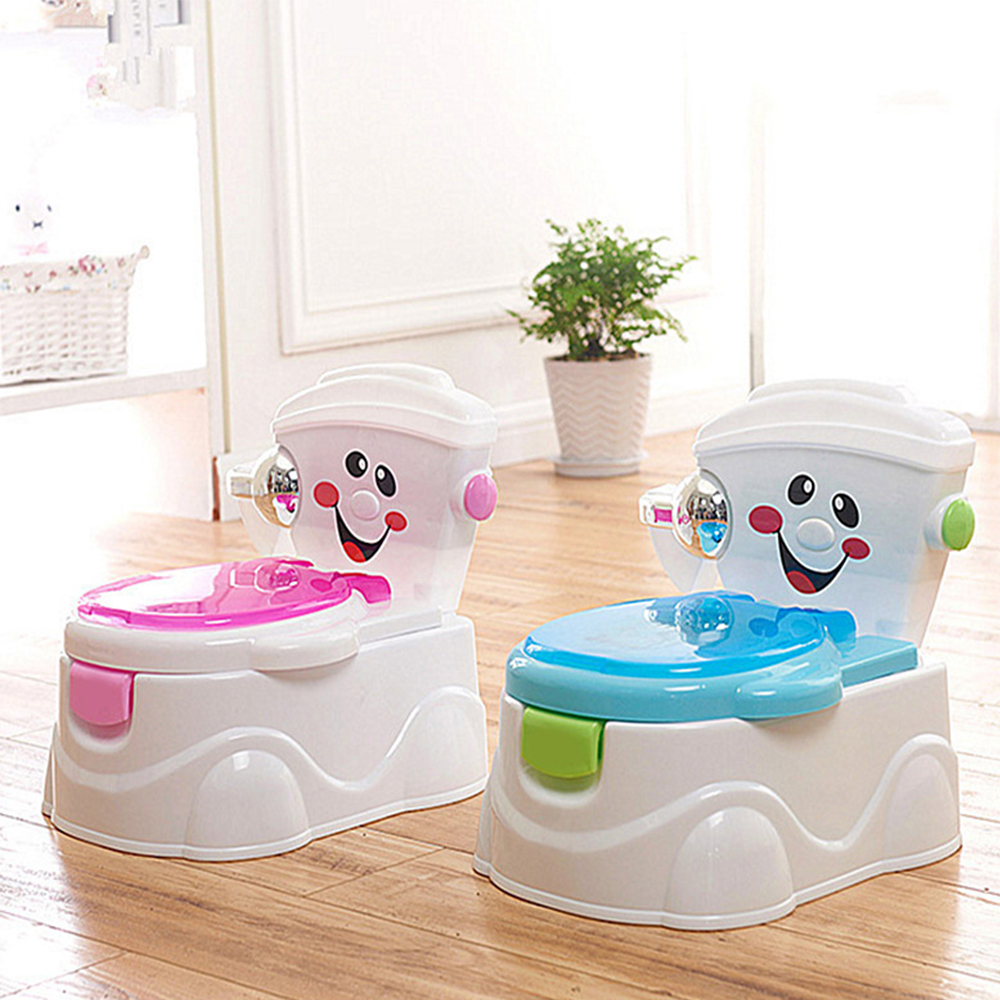 2018 Baby Potty Potties Folded Toilet Car Training Seat Portable Plastic Potty Trainer Kids Indoor WC Baby Chair Children's Pot children plastic toilet potties seat chamber pots kids trainers comfortable portable toilet ring baby travel potty folding chair