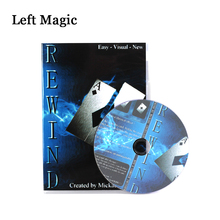 лучшая цена Rewind (DVD+Gimmick)-Magic Trick  Stage Close Up Magic Props  Accessories Fun Card Magia Toys Joke Gadget Classic wholesale