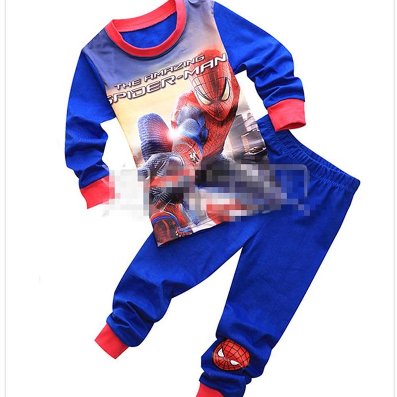 Boys Geyim dəsti uşaq pijama Spiderman Ironman paltar dəsti - Uşaq geyimləri - Fotoqrafiya 3