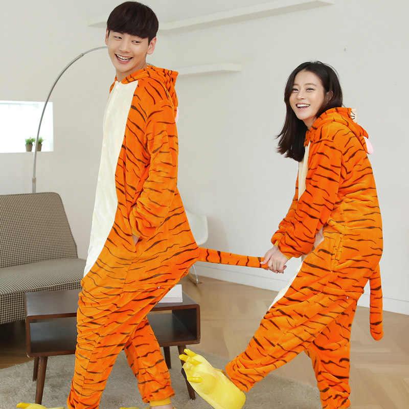 471579b5d1cf ... Orange Tigger One-Piece Kigurumi Winter Anime Pajamas Women Cartoon  Hoodie Onesie Pijama Sleepwear Unisex ...