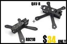 QAV-R 180mm/220mm/260mm con QD210 RD 210 210mm 4mm brazos de Carbono Puro Juego de Estructura de fibra Cruz Drones Quadcopter +