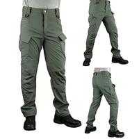 S ARCHON New IX7 Urban Tactical Fleece Pants Men Winter Warm Waterproof Military Cargo Pants Multi