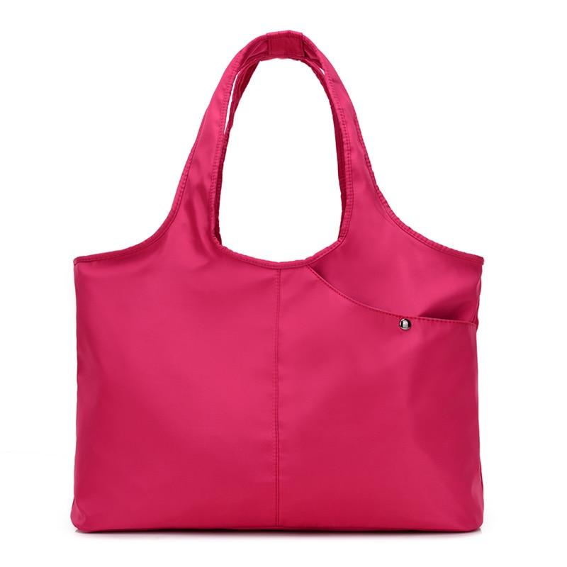 Nuevo bolso de la mujer bolso ocasional bolsa grande hombro de la manera nylon gran capacidad púrpura Bolsas bolsas impermeables