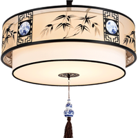 Chinese style round teahouse restaurant antique hot pot restaurant private room lamp study tatlight