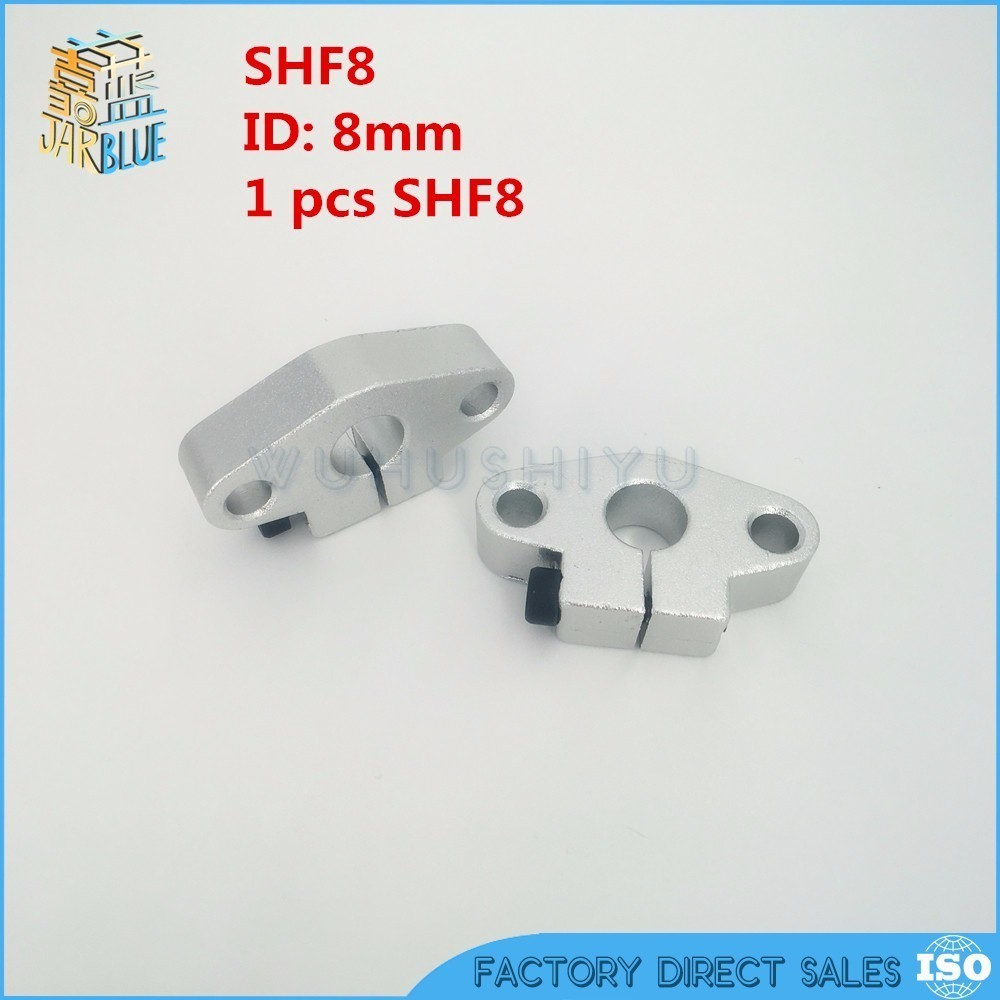 SHF8 <font><b>8mm</b></font> bearing shaft support for <font><b>8mm</b></font> <font><b>rod</b></font> round shaft support diy XYZ Table CNC Router 1pcs image