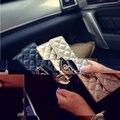 Европейский Люксовый Бренд Женщин Бумажники Плед Дизайнер PU Кожаный Кошелек Длинный Кошелек Женщины Tri-fold Кошельки